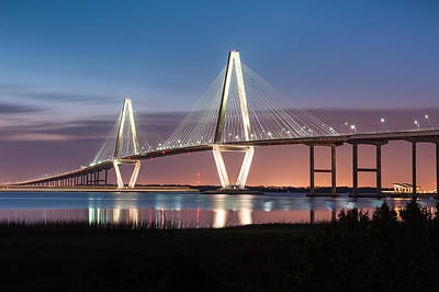 Arthur Ravenel Jr. Cooper River Bridge Charleston South Carolina Poster by Mark VanDyke