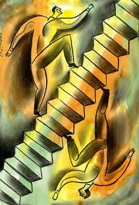 Ascending And Descending Poster by Leon Zernitsky