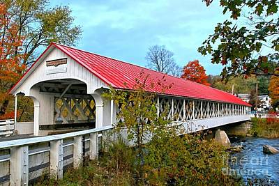Ashuelot Covered Bridge Poster by DJ Florek