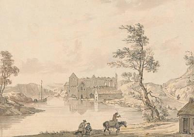 Askeaton Abbey Near Limerick, Ireland On The River Deel Poster by Paul Sandby