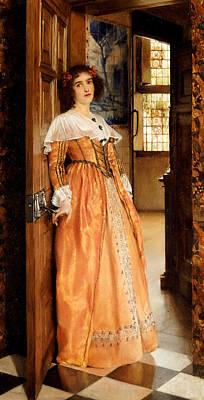 At The Doorway Poster by Laura Theresa Alma-Tadema