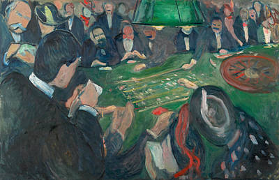 At The Roulette Table In Monte Carlo Poster by Edvard Munch