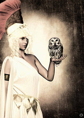 Athena Poster by Lourry Legarde