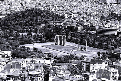 Athens Cityscape Iv Poster by John Rizzuto