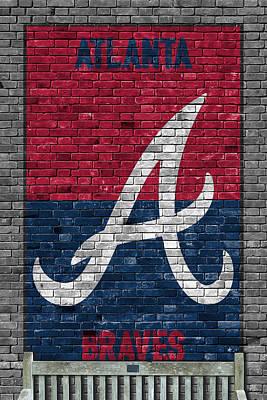 Atlanta Braves Brick Wall Poster by Joe Hamilton