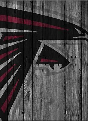Atlanta Falcons Wood Fence Poster by Joe Hamilton