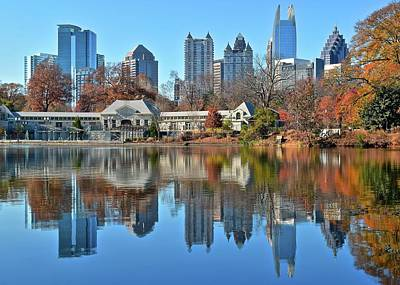 Atlanta Reflected Poster by Frozen in Time Fine Art Photography