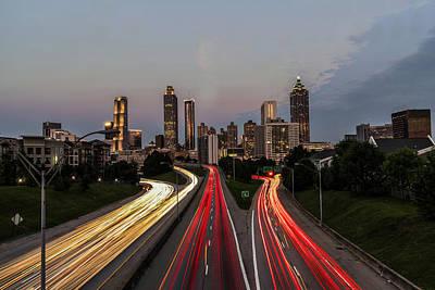 Atlanta Skyline Poster by Andrew Savasuk