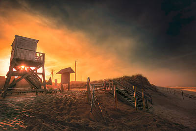 Atlantic Ocean Coast At Sunset - Nauset Beach Poster by Dapixara Art