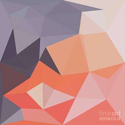 Atomic Tangerine Orange Abstract Low Polygon Background Poster by Aloysius Patrimonio