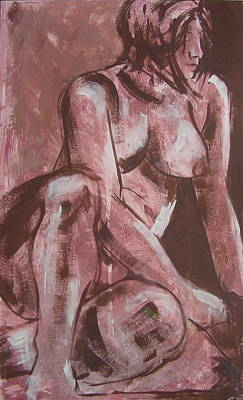 Aubergine Female Nude Poster by Joanne Claxton