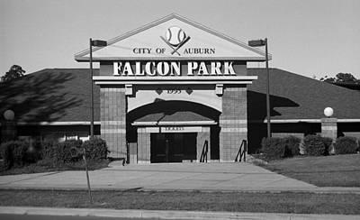 Auburn, Ny - Falcon Park Bw Poster by Frank Romeo