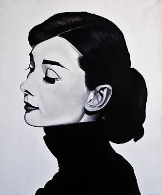 Audrey Hepburn 1 Poster by Brian Broadway