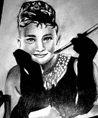 Audrey Hepburn Poster by Pauline Murphy