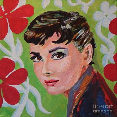 Audrey Hepburn Portrait Poster by Robert Yaeger