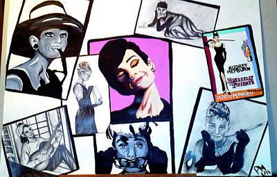 Audrey Hepburn Snapshots Poster by Pauline Murphy