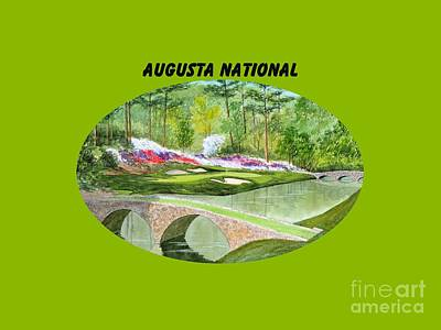 Augusta National Golf Course With Banner Poster by Bill Holkham