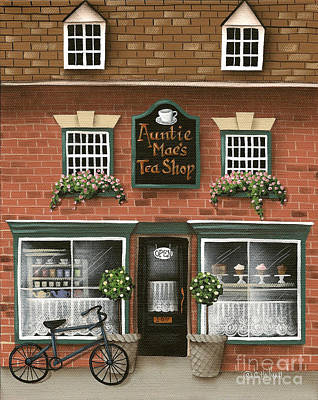 Auntie Mae's Tea Shop Poster by Catherine Holman