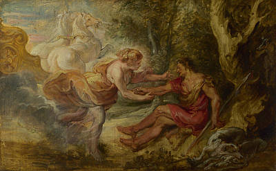 Aurora Abducting Cephalus Poster by Peter Paul Rubens