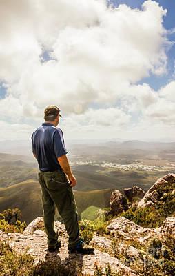 Australian Explorer Sightseeing Mt Zeehan Poster by Jorgo Photography - Wall Art Gallery