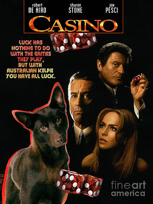 Australian Kelpie -  Casino Movie Poster Poster by Sandra Sij