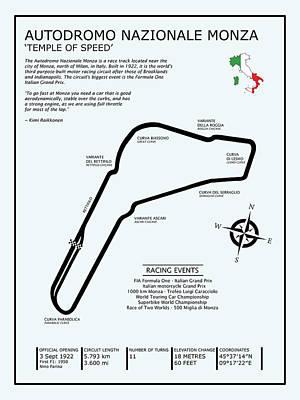 Autodromo Nazionale Monza Poster by Mark Rogan
