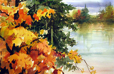 Autumn Ablaze  Poster by Chito Gonzaga