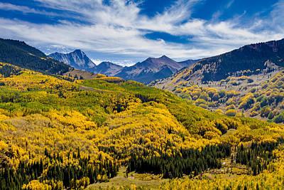 Autumn At Capitol Peak Colorado Poster by Teri Virbickis