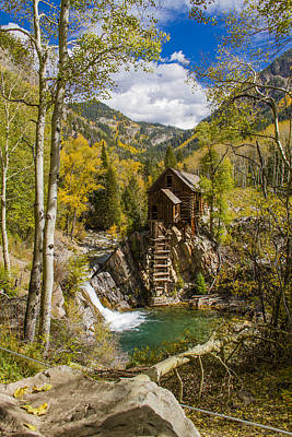 Autumn At Historic Crystal Mill Poster by Teri Virbickis