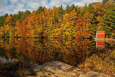 Autumn At The Lake Poster by Karol Livote