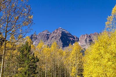 Autumn At The Maroon Bells Poster by Teri Virbickis