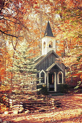 Autumn Chapel Poster by Joel Witmeyer