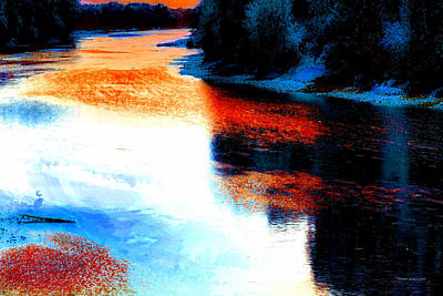 Autumn Down By The River Poster by Thomas Woolworth
