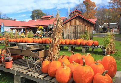 Autumn Harvest Pumpkins And Sugar House Poster by John Burk