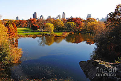 Autumn In Central Park Poster by Nishanth Gopinathan