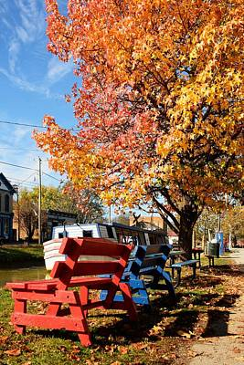Autumn In Metamora Indiana Poster by Tri State Art