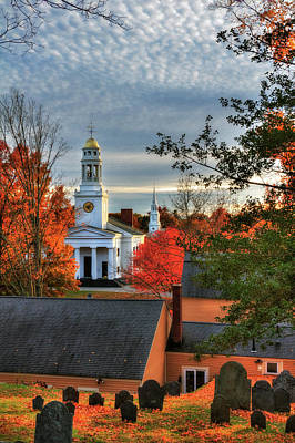 Autumn In New England - Concord Ma Poster by Joann Vitali