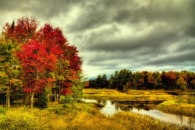 Autumn In Old Forge Poster by David Patterson