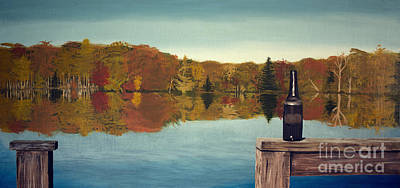 Autumn Lake Poster by Lee Alexander