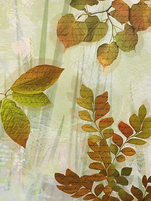Autumn Leaves-1 Poster by Nina Bradica
