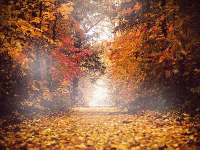 Autumn Mist Poster by Georgiana Romanovna