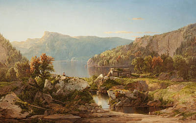 Autumn Morning On The Potomac Poster by William Sonntag