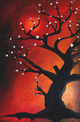 Autumn Nights - Abstract Tree Art By Fidostudio Poster by Tom Fedro - Fidostudio