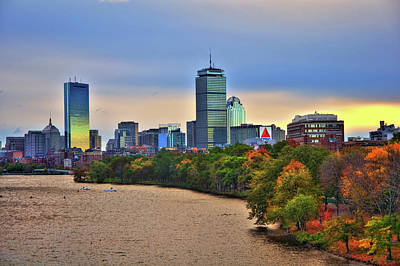 Autumn On The Charles River - Boston Poster by Joann Vitali