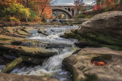 Autumn On The Rocky River Poster by Michael Demagall