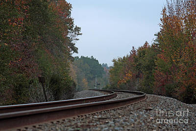 Autumn Railway Poster by Lisa Holmgreen