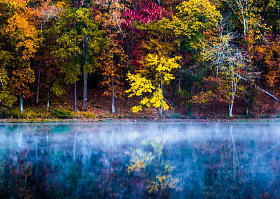 Autumn Reflections On The Lake Poster by Parker Cunningham