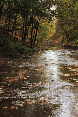 Autumn River Glow Poster by Jessica Jenney