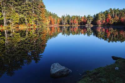 Autumn Serenity In Maine Usa Poster by Vishwanath Bhat