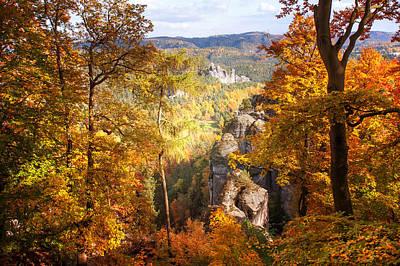 Autumn Splendor. Saxon Switzerland Poster by Jenny Rainbow